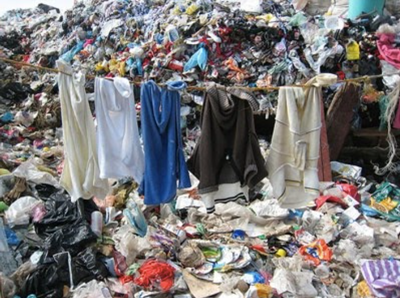 Fast Fashion Waste on the landfills